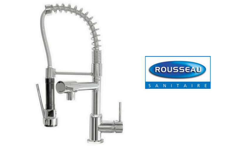 Rousseau Sanitaires Kitchen mixer tap with spray attachment Kitchen taps Kitchen Equipment  |