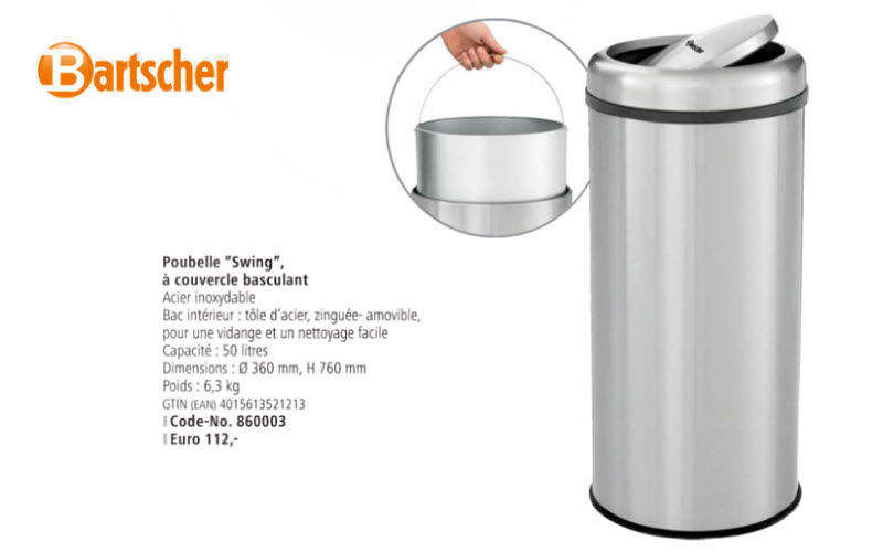 Bartscher Swivel kitchen dustbin Around the sink Kitchen Accessories  |