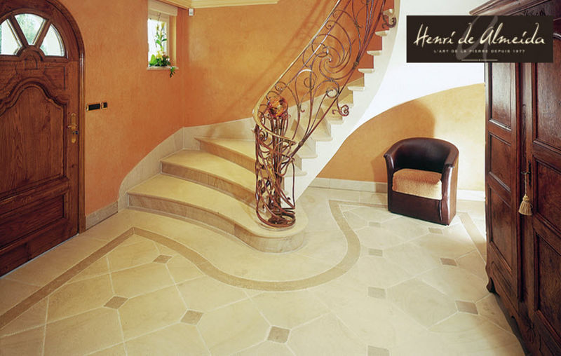 Henri de Almeida Créations Two quarter turn staircase Stairs and ladders House Equipment Entrance | Classic