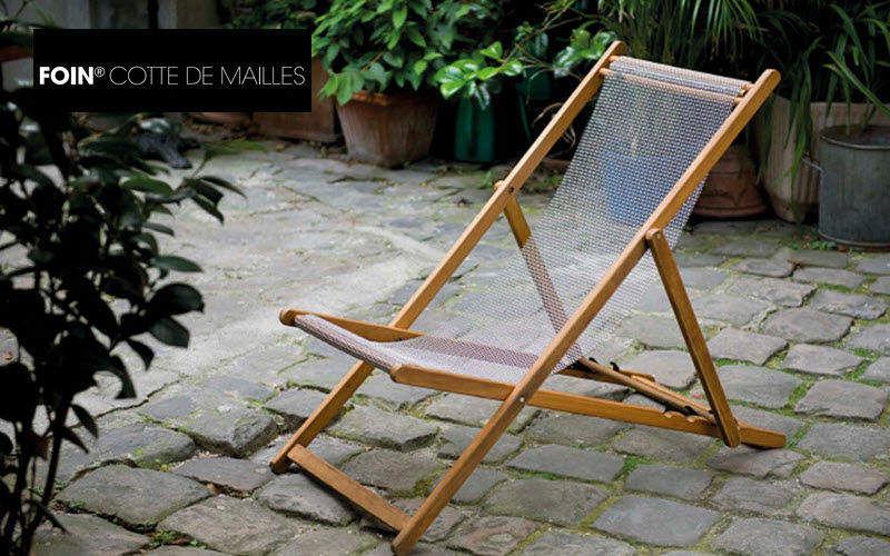 FOIN COTTE DE MAILLES Deckchair canvas Outdoor armchairs Garden Furniture  |