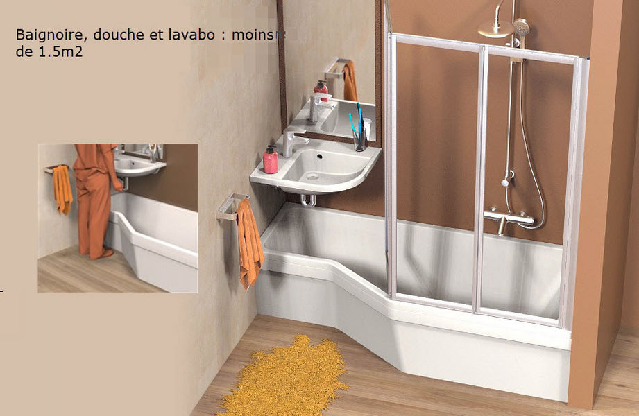 Aryga - PlusDePlace.fr Compact bathroom Fitted bathrooms Bathroom Accessories and Fixtures   