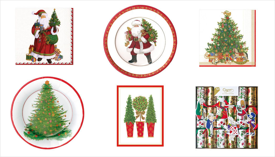 CASPARI Christmas decorated paper plate Christmas decorations Christmas and Holidays  |