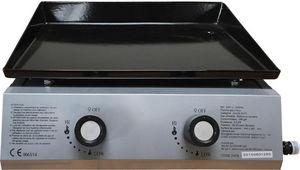 WILSA GARDEN - plancha de table gaz 2 feux - Griddle