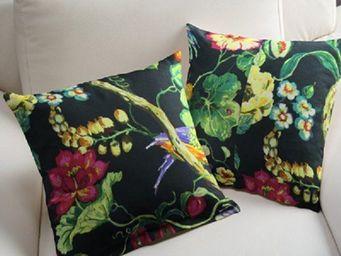 rideau-voile - housse de coussin sur mesure pillow noir black - Cushion Cover