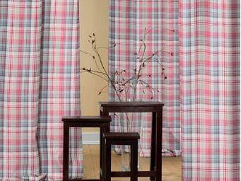 rideau-voile - rideau color� deco chic � carreaux choc - Eyelet Curtain
