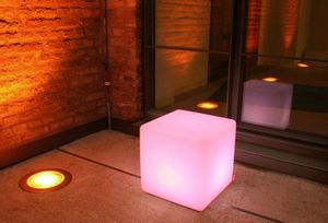 Luminous garden armchair