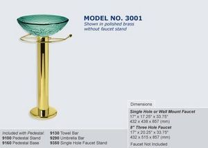 Decolav Basin pedestal