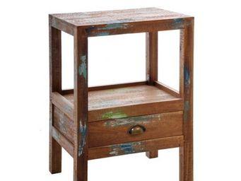 J-line - table de chevet vintage color - Bedside Table
