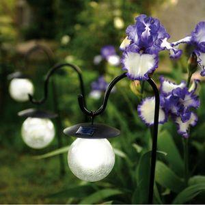 Blachere Illumination - pique solaire boule de verre blanc - Garden Candle Holder