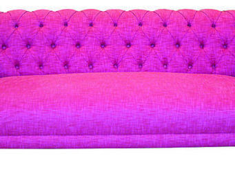 KA INTERNATIONAL - suecia capitoné + cartuja fucsia - 3 Seater Sofa