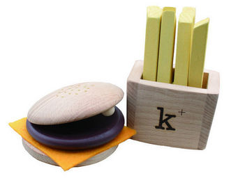 KUKKIA - k007-hamburger set - Wooden Toy