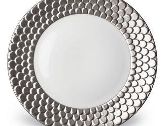 L'OBJET - aegean platinum dinnerware - Dinner Plate