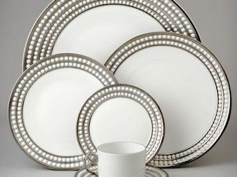L'OBJET - perlée platinum dinnerware - Dinner Plate
