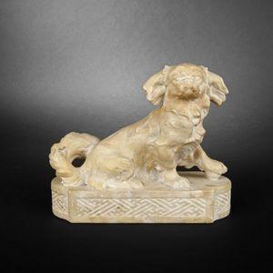 Expertissim - chien en marbre - Animal Sculpture