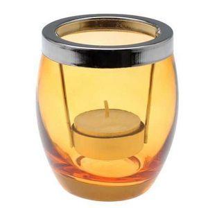 La Chaise Longue - photophore summer en verre orange 8x9.5cm - Candle Jar