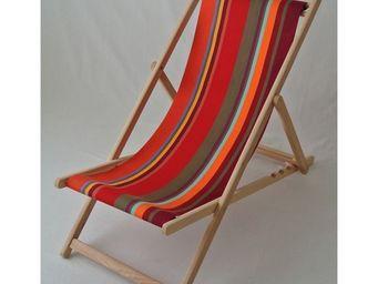 Les Toiles Du Soleil - chilienne collioure rouge - Deck Chair