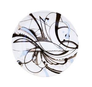 Haviland - intuition décor noir - Dessert Plate