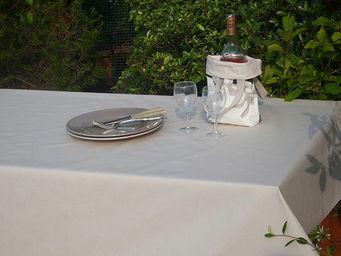 FLEUR DE SOLEIL - nappe enduite uni sable 160x160 - Coated Tablecloth