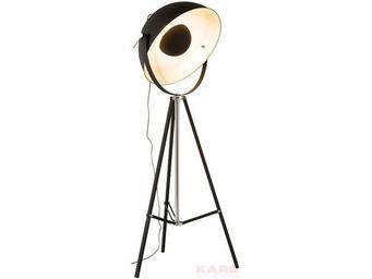 Kare Design - lampadaire bowl noir - Floor Lamp
