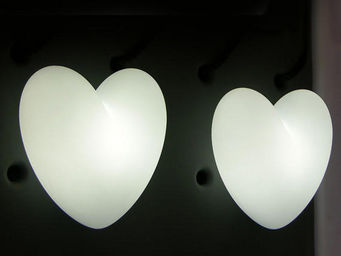 Slide - love - lampe à poser coeur blanc h40cm | lampe à p - Table Lamp