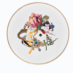 ANIMAL FABULEUX - tulipe rose - Dessert Plate