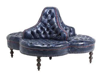 Kare Design - canapé rond saloon bleu - 3 Seater Sofa