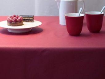 FLEUR DE SOLEIL - unie rouge - Coated Tablecloth