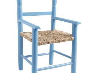 Aubry-Gaspard - fauteuil enfant en bois de hêtre bleu - Armchair
