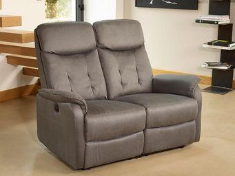 WHITE LABEL - canapé relax électrique 2 places gris - alicia - l - 2 Seater Sofa