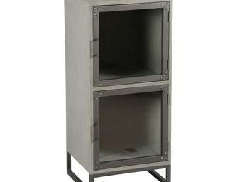 WHITE LABEL - meuble 2 portes - anthros - l 44 x l 40 x h 98,5 - -