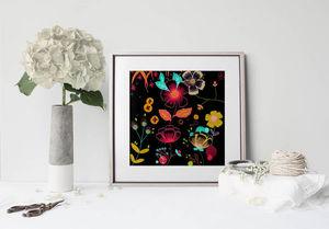 la Magie dans l'Image - print art happy flowers - Decorative Painting