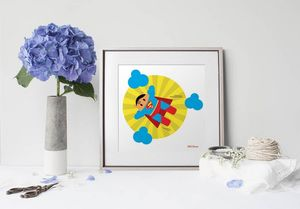 la Magie dans l'Image - print art héros superman - Decorative Painting