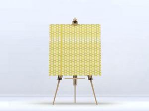 la Magie dans l'Image - toile lotus petit jaune blanc - Digital Wall Coverings