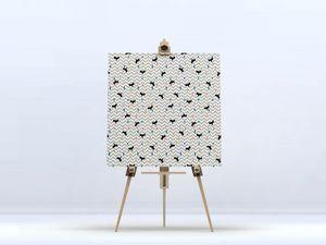 la Magie dans l'Image - toile renard confettis - Digital Wall Coverings