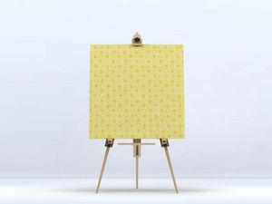 la Magie dans l'Image - toile trèfle jaune foncé - Digital Wall Coverings