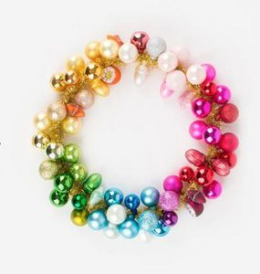 MY LITTLE DAY - boules multicolores - Christmas Wreath