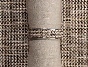 CHILEWICH - mini bw - Napkin Ring
