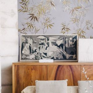 ISIDORE LEROY - bambous doré - Wallpaper