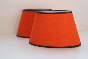 L'ATELIER DES ABAT-JOUR - orange - Cone Shaped Lampshade