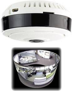 7 LINKS - caméra de surveillance ip panoramique 360° à vision pir - Security Camera
