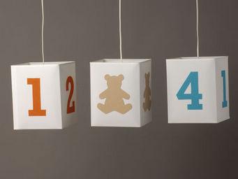 Voila Ma Maison - suspension coton blanc pm - Children's Hanging Decoration
