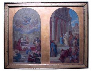 Galerie Emeric Hahn - episode de la vie de la vierge - Oil On Canvas And Oil On Panel