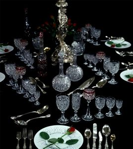 Adrian Alan - exceptional 127 piece baccarat 'lorient' table service - Table Service