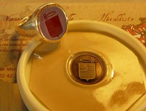 Xavier d'Andeville Héraldiste - pierre - Ring