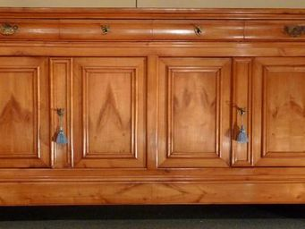 ANTIQUE GERMAIN - enfilade d'epoque napoleon iii en merisier massif - Low Sideboard