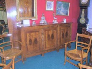 Antiquités FAUROUX - enfilade directoire - Low Sideboard