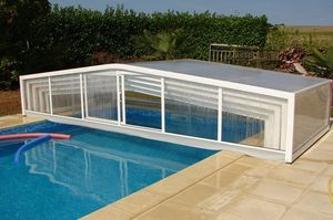 Abri-Integral - eco 2 pentes - High Telescopic Pool Cover