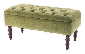 The English House - button-top storeage - Footstool