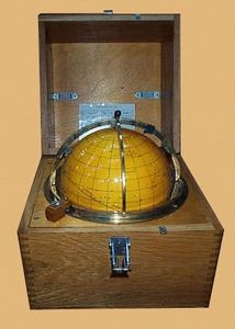 Normandy Antiquites De Marine - tete de veau - Nautical Globe Compass