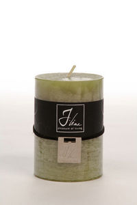 BELDEKO - bougie cylindre m vert - Round Candle